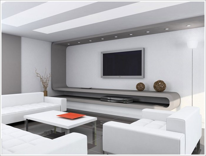 Living room design with lcd unit pictures 02 for Lcd designs for living room